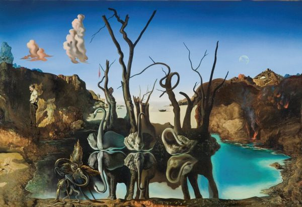 Dali Reflections of Elephants tablou canvas
