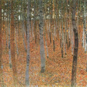 Gustav Klimt Forest of Beech Trees