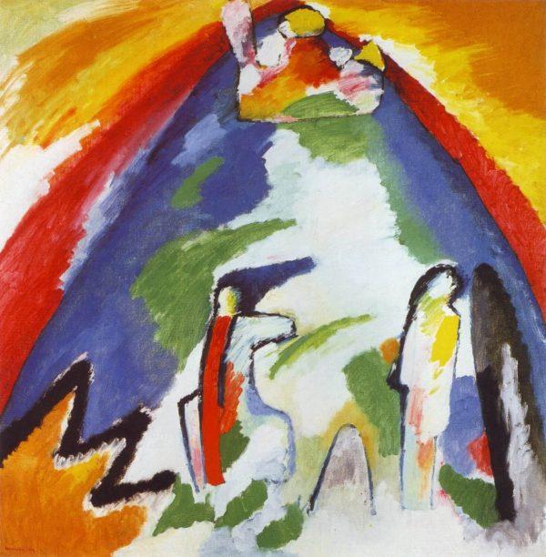 Kandinski A Mountain tablou canvas