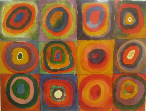 Kandinski Color Study tablou canvas