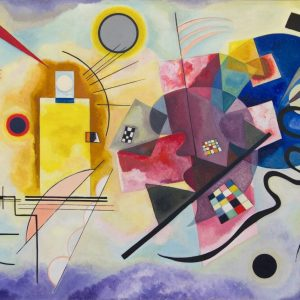 Kandinski Yellow Red and Blue tablou canvas