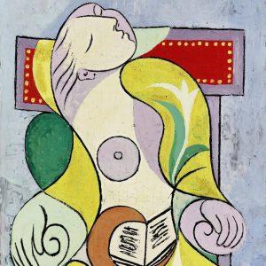 Picasso La Lecture tablouri celebre canvas