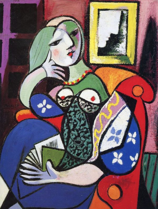 Picasso Woman With A Book tablou canvas