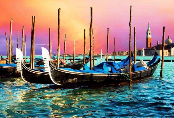 Tablou living Gondole Venetia