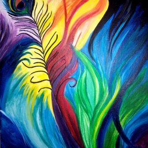 Tablou living Pene colorate