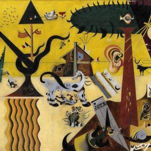 Tablou living arta abstracta pamant arat