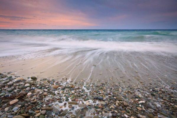 Tablou living rasarit pe plaja