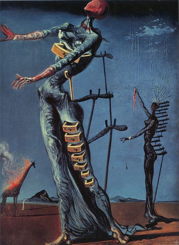 Salvador Dali The Burning Giraffe