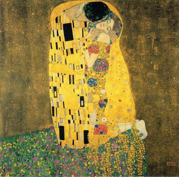 Gustav Klimt The Kiss Tablouri canvas reproduceri