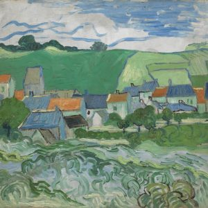 View of Auvers tablouuri canvas celebre