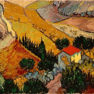 Landscape with house and ploughman Van Gogh