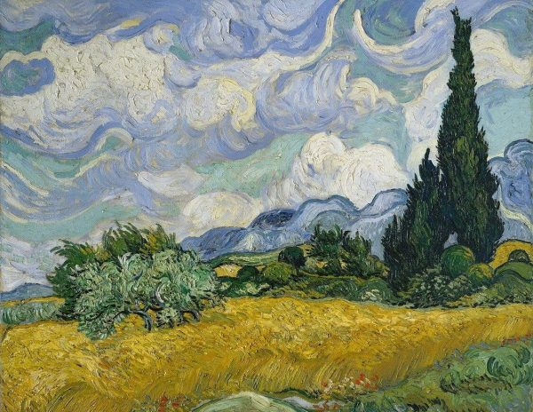 Wheat Field with Cypresse Van Gogh tablouri canvas celebre