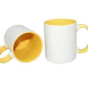 cana personalizata interior galben