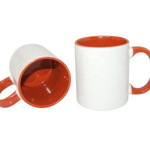 cana personalizata interior portocaliu