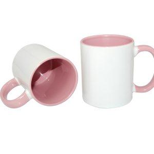 cana personalizata interior roz