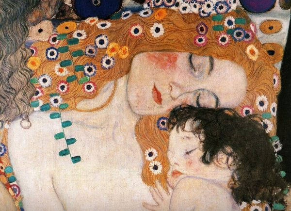 Gustav klimt Mother and Child tablou canvas