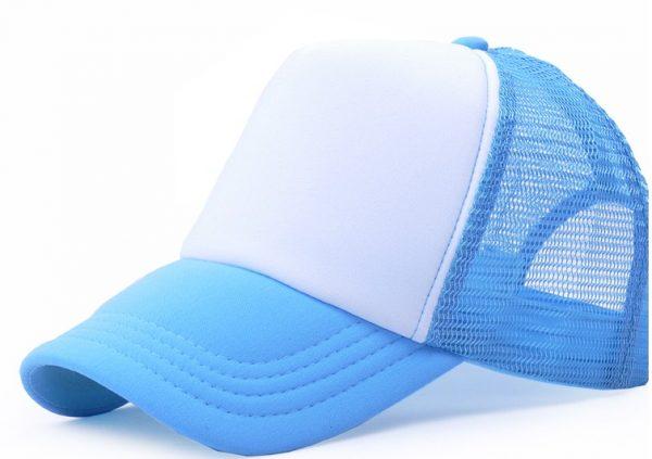 sapca personalizata albastru deschis