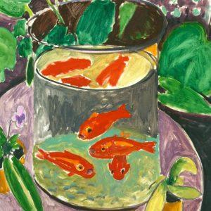 Goldfish tablou canvas bucatarie