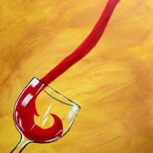 The Red Pour Bar Art tablou canvas bucatarie