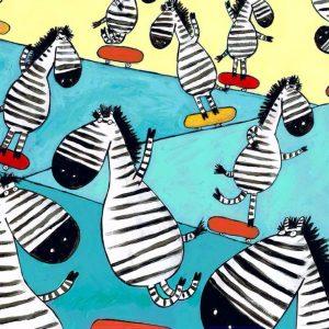 tablou canvas zebra