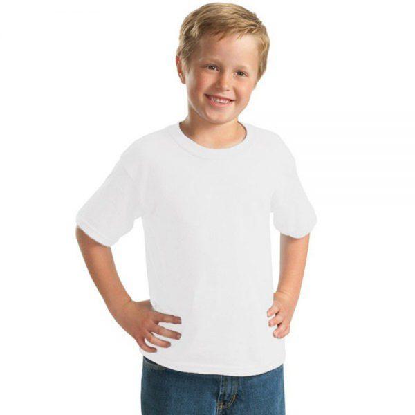 tricou copii alb bumbac 100