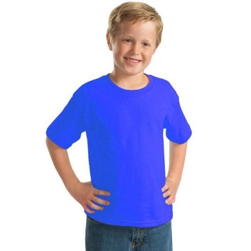 tricou copii albastru bumbac 100