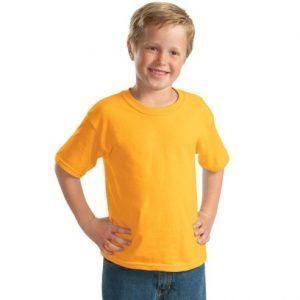 tricou copii galben bumbac 100