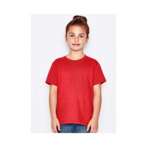 tricou copii rosu bumbac 100