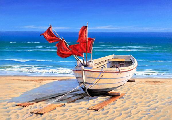 Tablouri canvas Barca pescari