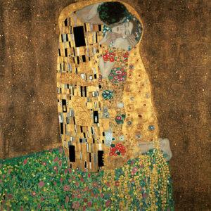 Tablou canvas living Klimt Sarutul