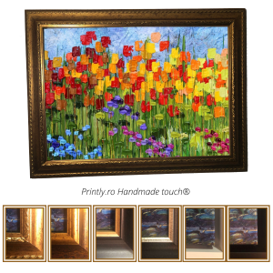 tablou pictat cu flori