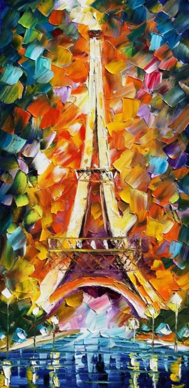 Turnul Eiffel Paris, reproducere Leonid Afremov