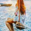 Tablou canvas Fata pe leagan
