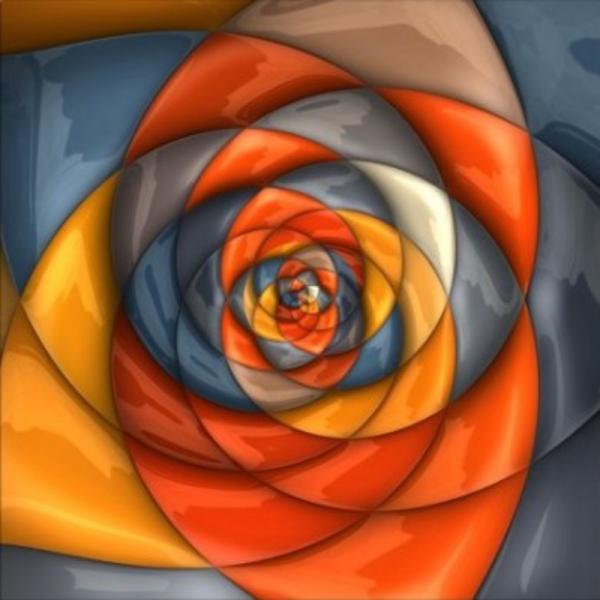 Tablou canvas floral psychedelic