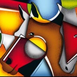 Tablou cubist, energie si culoare