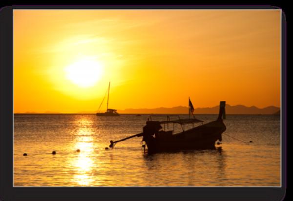 Tablou boat at ao nang beach, Printly