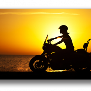Tablou biker over sunset, Printly
