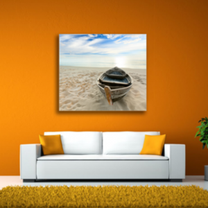 Tablou boat on the beach, Printly