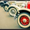Tablou vintage car wheels, Printly