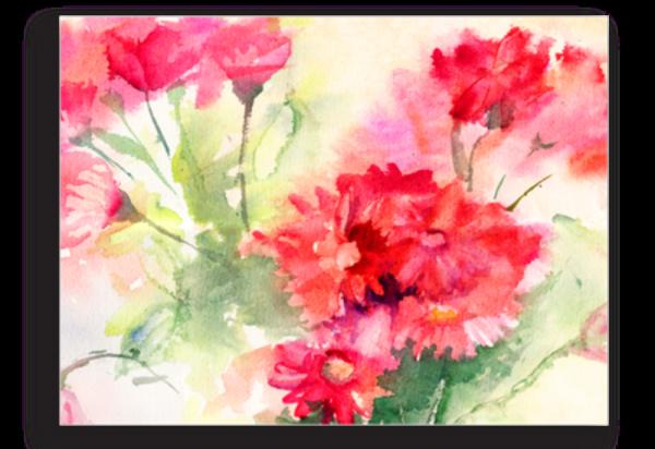Tablou crizanteme rosii, Printly