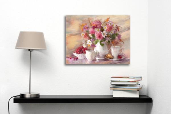Tablou flori de toamna in vaza, Printly