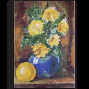 Tablou flori in vaza albastra, Printly