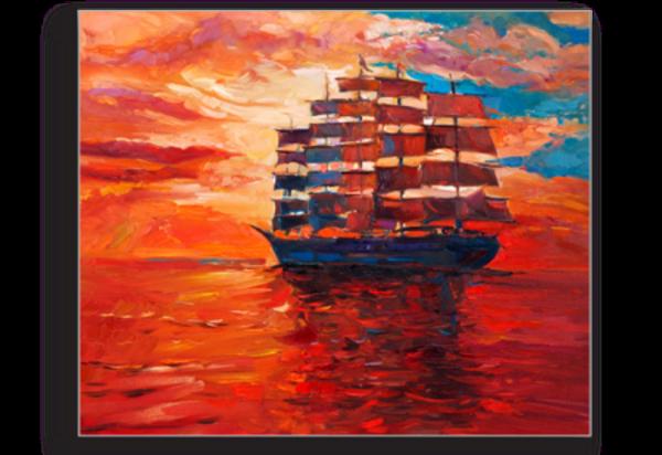 Tablou sailing frigate, Printly