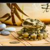 Tablou gold feng shui frog, Printly