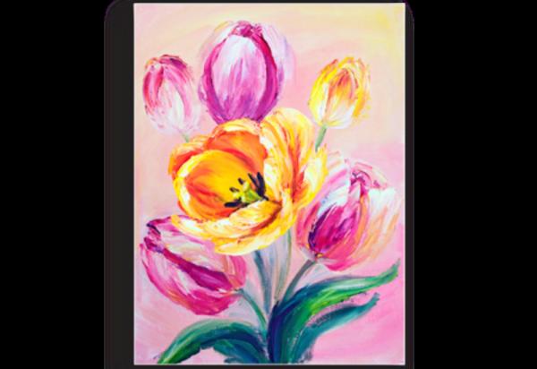 Tablou lalele roz, Printly
