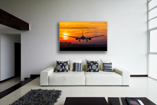 Tablou aircraft landing, Printly