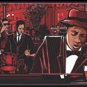 Tablou piano jazz band, Printly