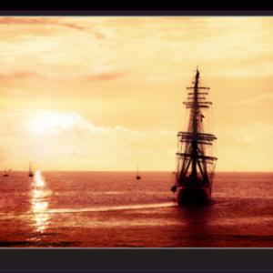 Tablou pirate ship sailing, Printly