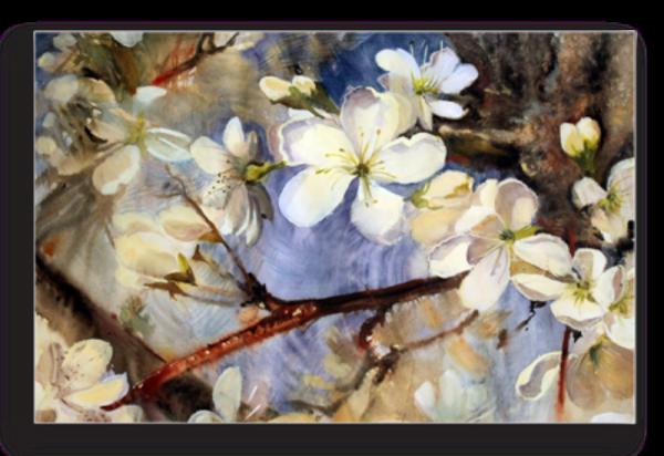 Tablou ramura cu flori, Printly