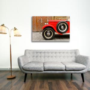 Tablou red vintage car, Printly